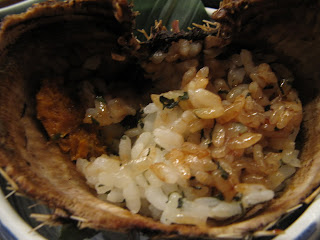 Uni Sushi Rice Cooked in a Sea Urchin Shell