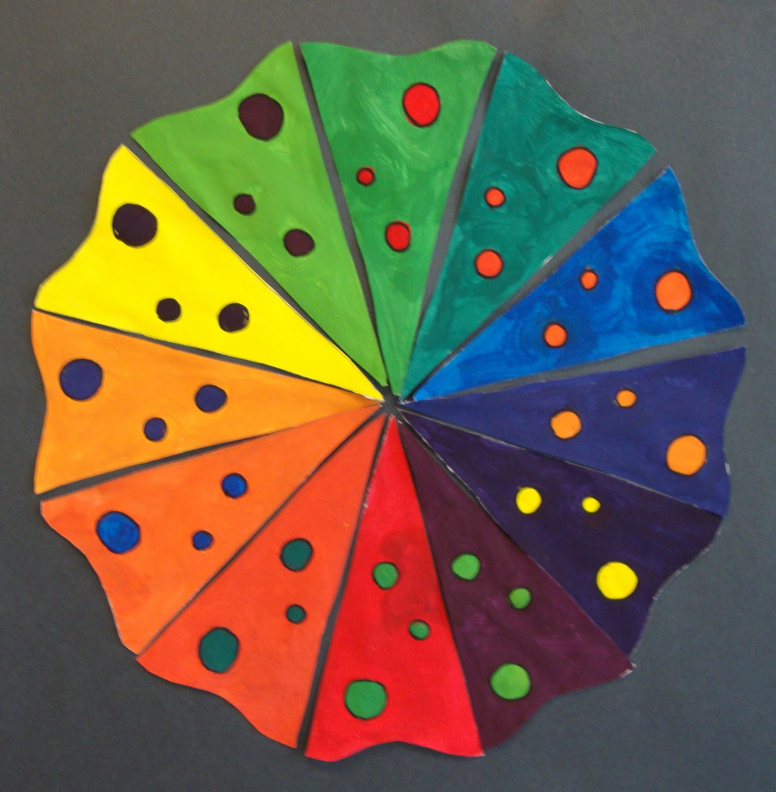 Art Paper Scissors Glue Creative Color Wheel