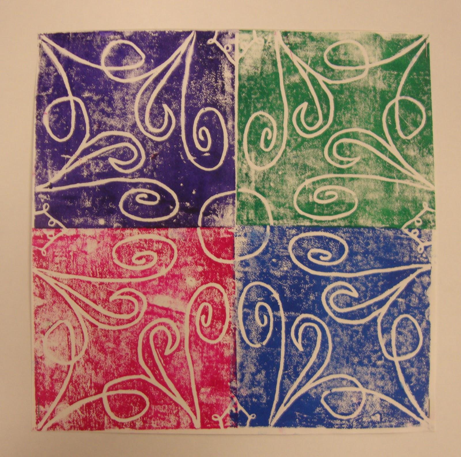 Art Paper Scissors Glue Radial Symmetry Prints