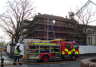 Union Theological College, Belfast - fire brigade in attendance