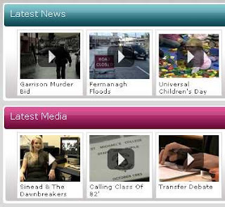 Snippet from fermanagh.tv homepage - flooding story now being promoted