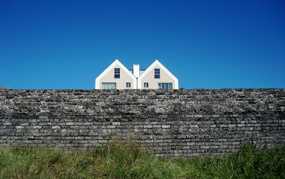 Two semi-detached houses overlooking the sea at Portstewart