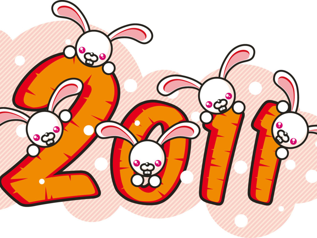 NewYear20112011yearRabbit026309jpg. 1024 x 768.Funny Happy New Year Cartoons