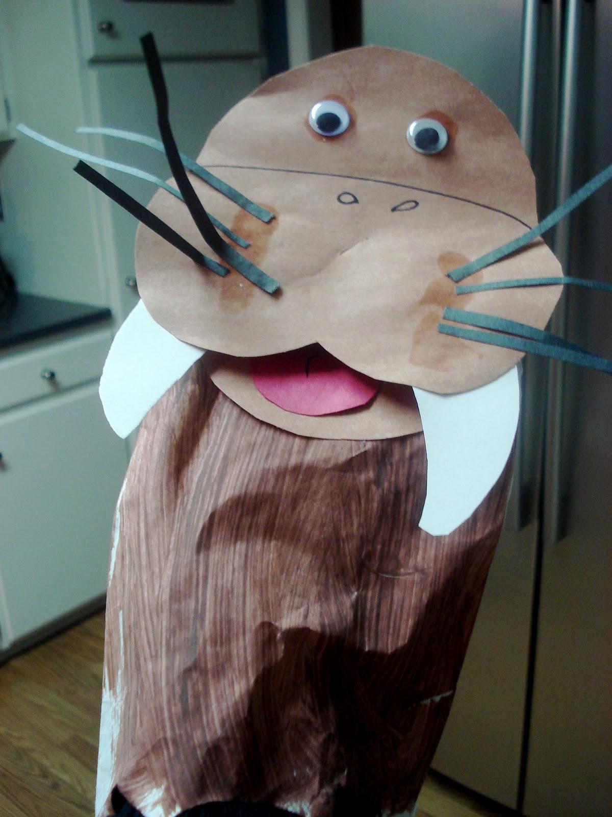 Walrus Paper Bag Puppet