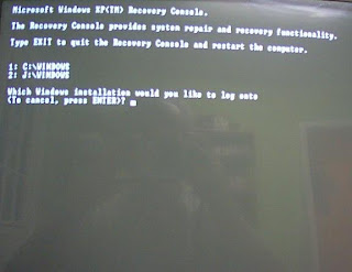 repair windows xp recovery console