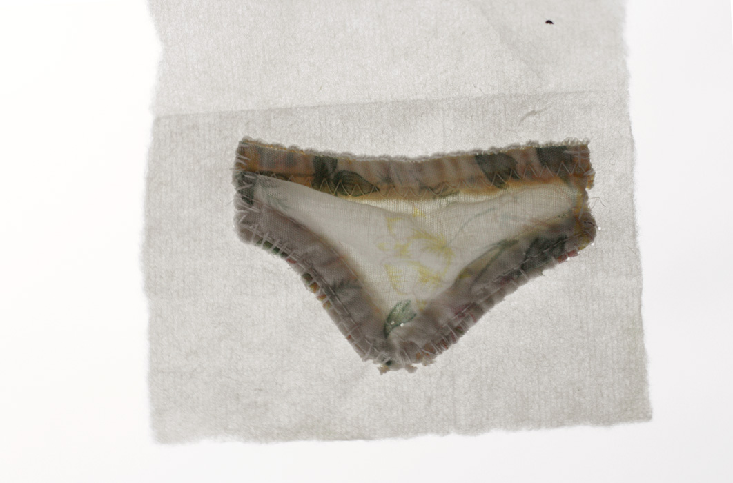 Flowers [2009], Little Undies series, ongoing. fabric & thread.