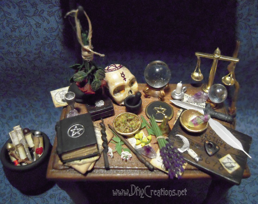 Dollhouse Mini S By Dfly Creations Wiccan Altar Table