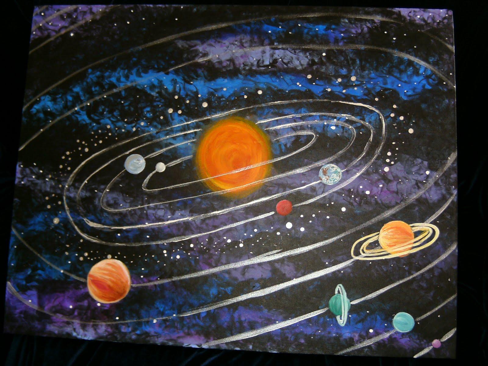 universe solar system paintings art - HD1600×1200