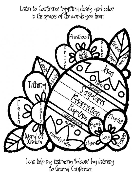 general conference 2014 coloring pages | LDS Conference Activities and Ideas - A Little Tipsy