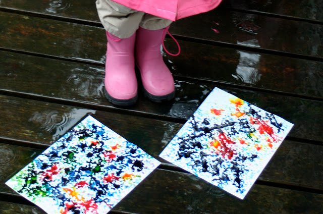 Rainy Day Splatter Paintings from Little Page Turners