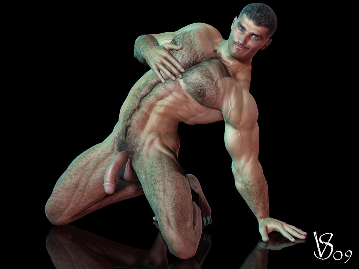 beautiful muscular naked men