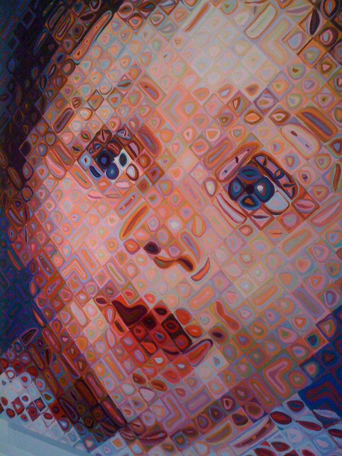 A Close Up Of Bad Makeup: Not Quite Starving Artist: Artist Of The Day: Chuck Close
