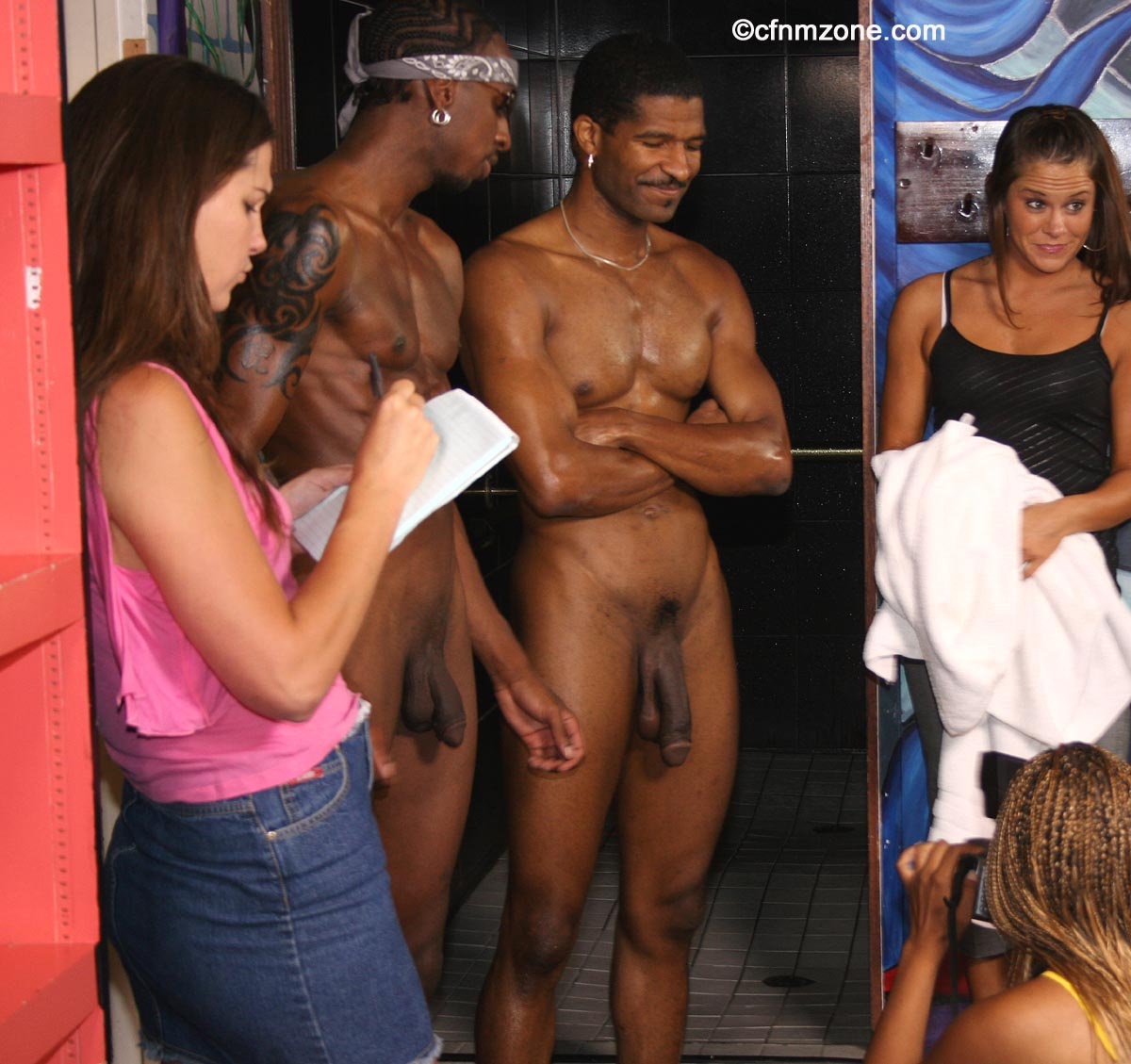 naked sports locker room