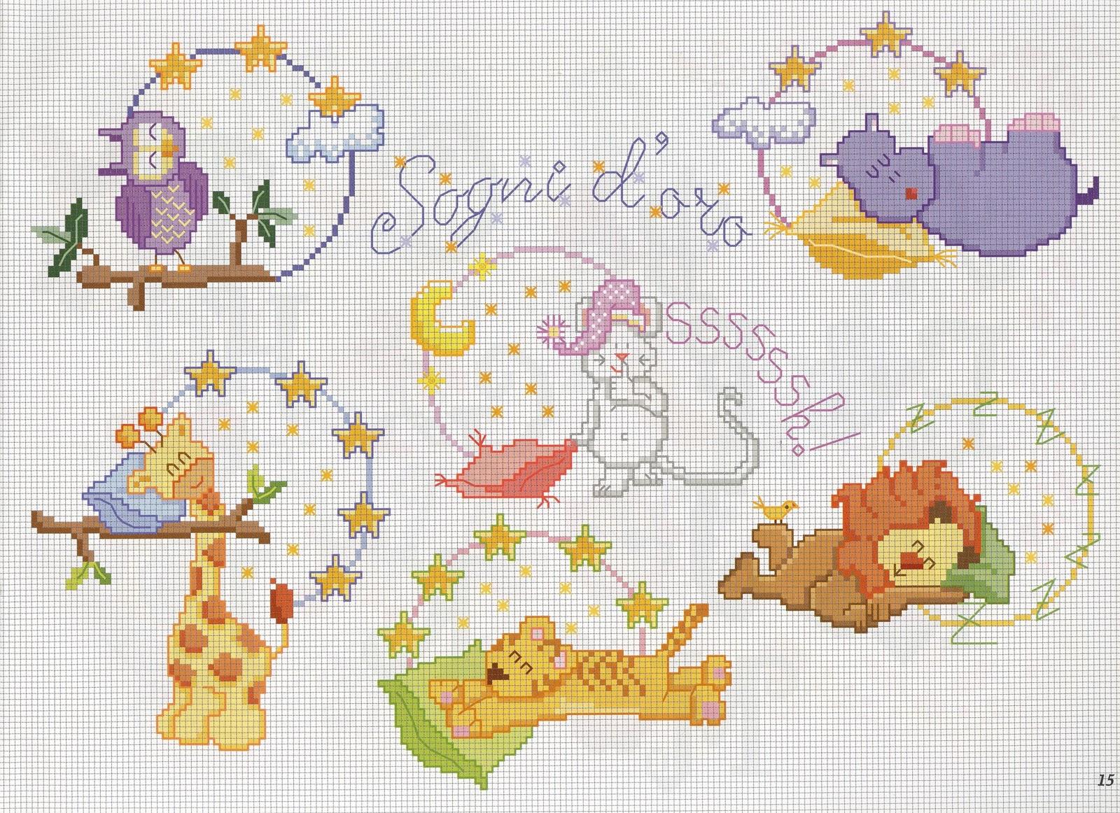 Sogniecoccole schemi gratis schemini mani di fata for Animali a punto croce per bambini