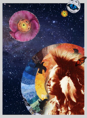 sacred teacher, native indian mysticsaint collage