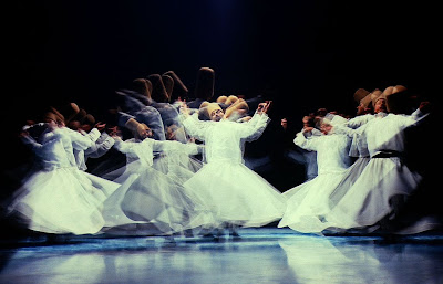 whirling dervishes of Rumi, multiexposure