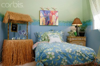 Decorating theme bedrooms maries manor tropical bedroom - Beach themed bedroom for teenager ...