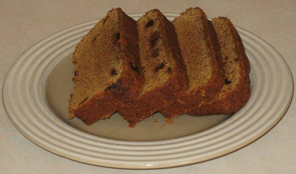 Pumpkin Carob Chip Bread