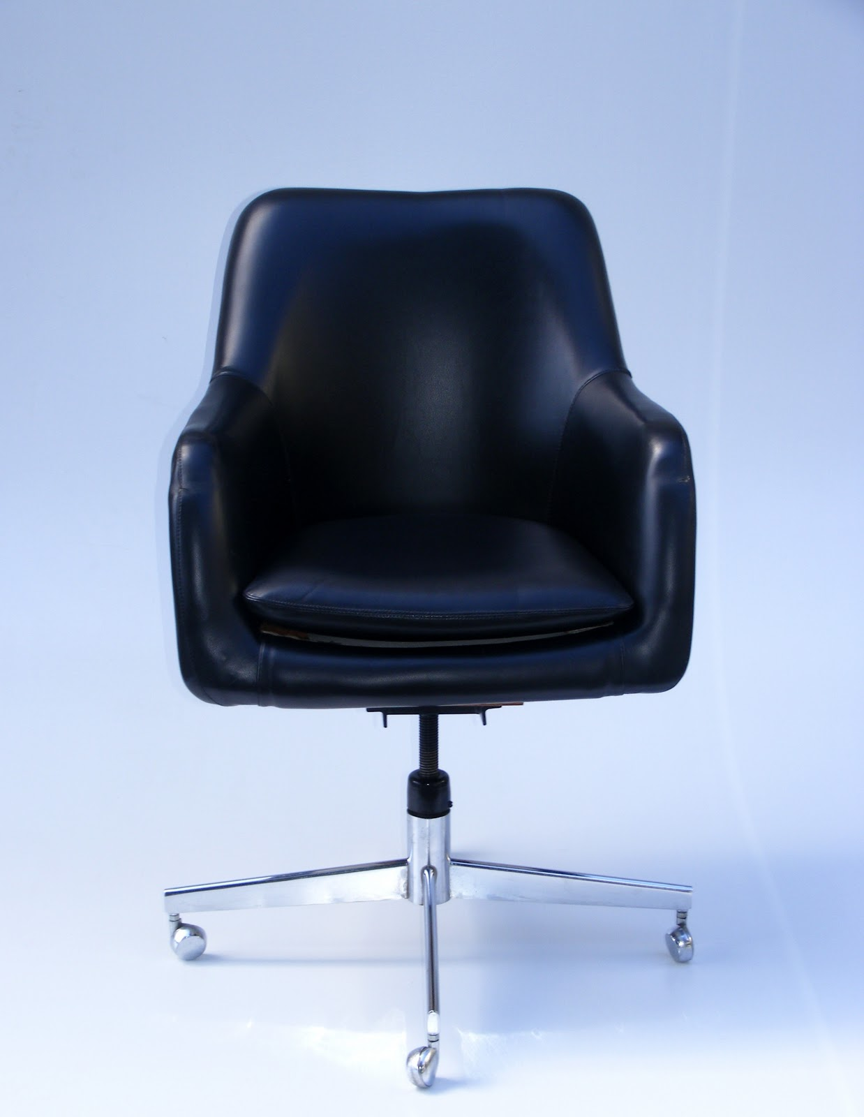 Red Office Chair No Wheels Metal High Vamp Furniture New Stock At This Week