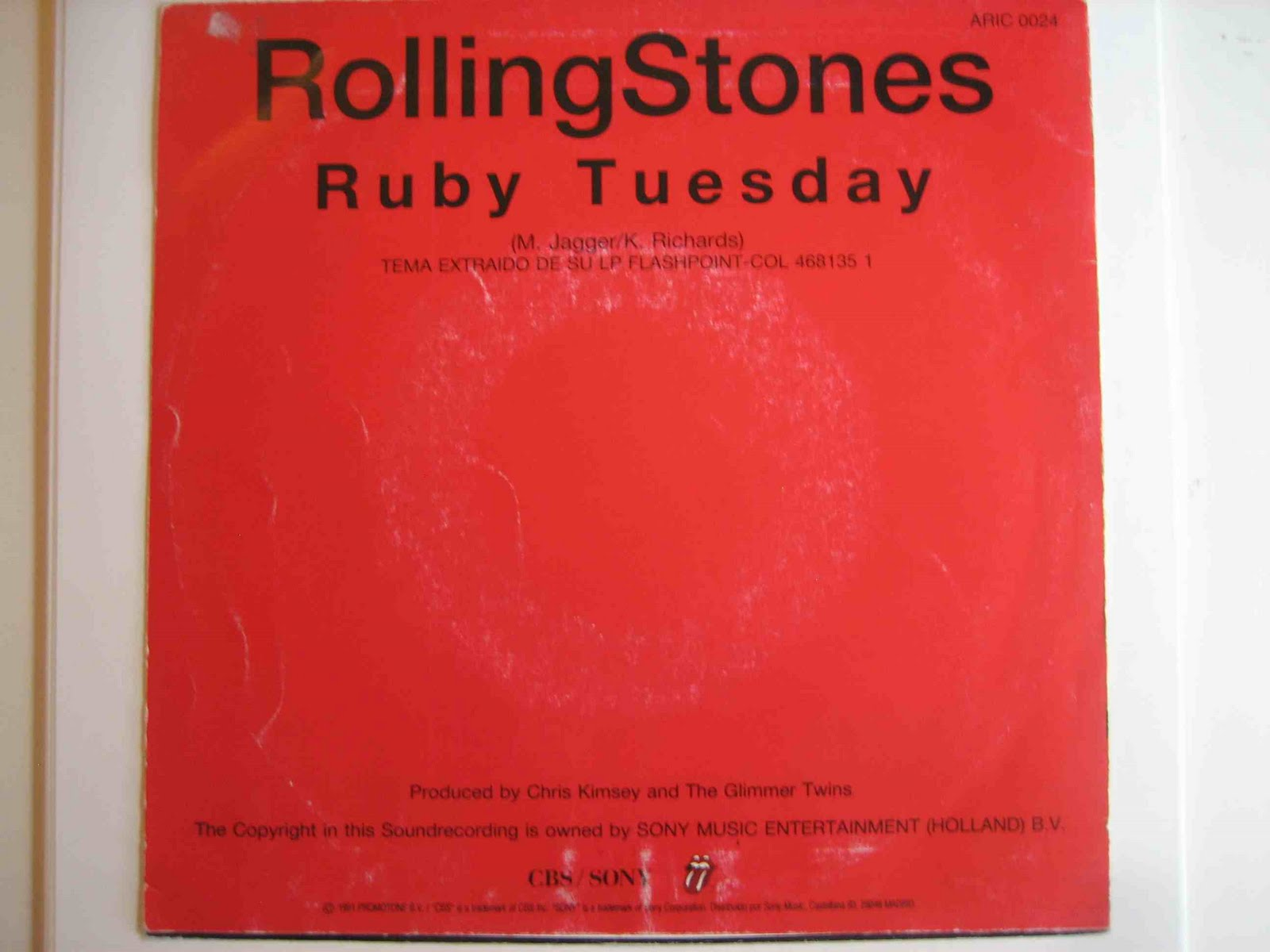 The Rolling Stones In Spain Ruby Tuesday Single