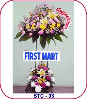 standing flower acara peresmian