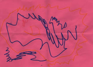 dessin d'une petite fille pour moi de la crêche où je fais une animation de peinture