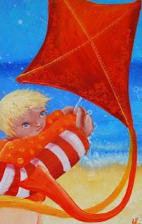 Petit prince fait du cerf-volant