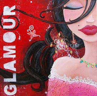 Princesse glamour : peinture acrylique
