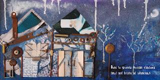 Illustration de la maison d'Octave une maison triste et silencieuse un peu tordue la cheminée fume par l'illustratrice laure phelipon