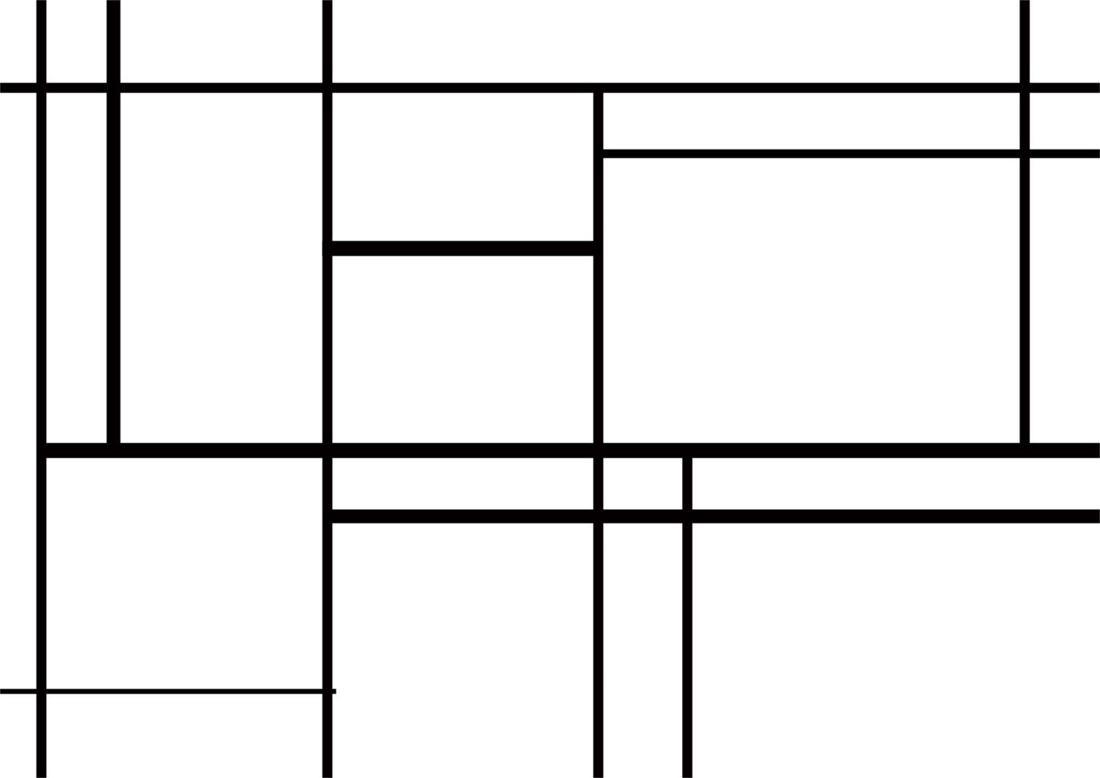 Mondrian Blanko Vorlage