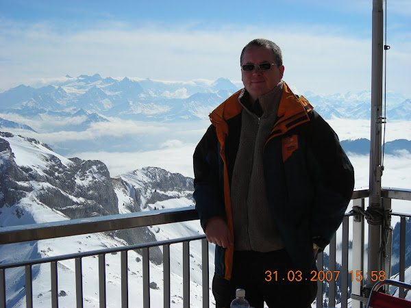 Operating location from a top in alps c2600m