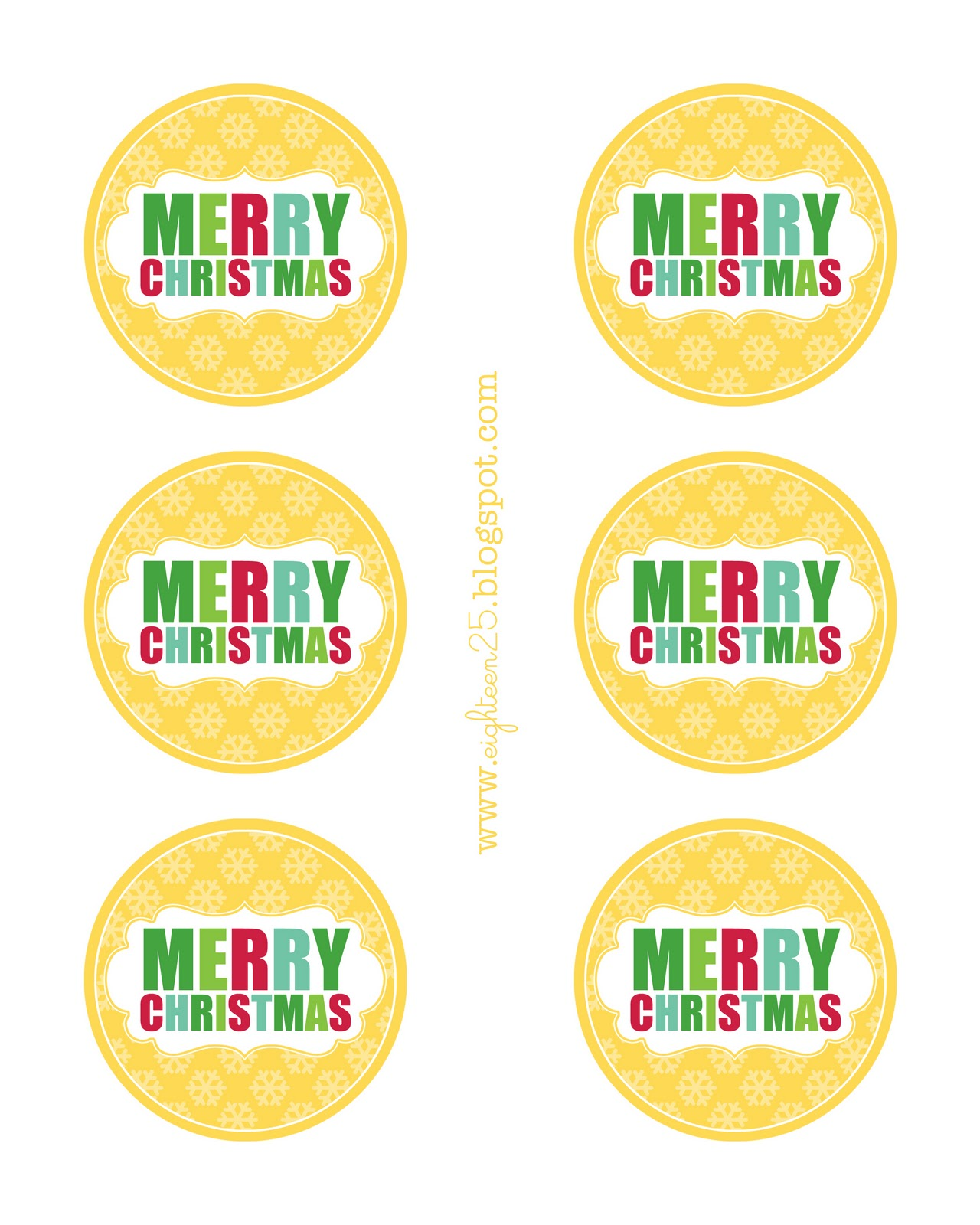 Merry Christmas Labels Printable: Baking Day Recipes And A Christmas Tag