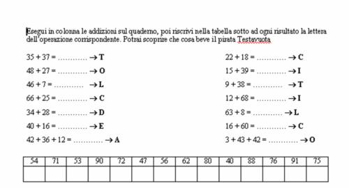 Didattica Matematica Scuola Primaria Addizioni In Colonna Con Il