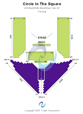 Circle In The Square Theatre Seating Chart View Events Tickets For New York City Venue