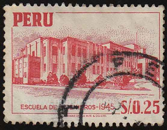 Estampitas o estampillas que gran coleccion...-http://4.bp.blogspot.com/_IUAKMt7P-mo/TI_7QRGt4pI/AAAAAAAAAIs/Ja_vP6pxaFo/s1600/Estampilla+0.25+Escuela+de+Ingenieros+1945.jpg