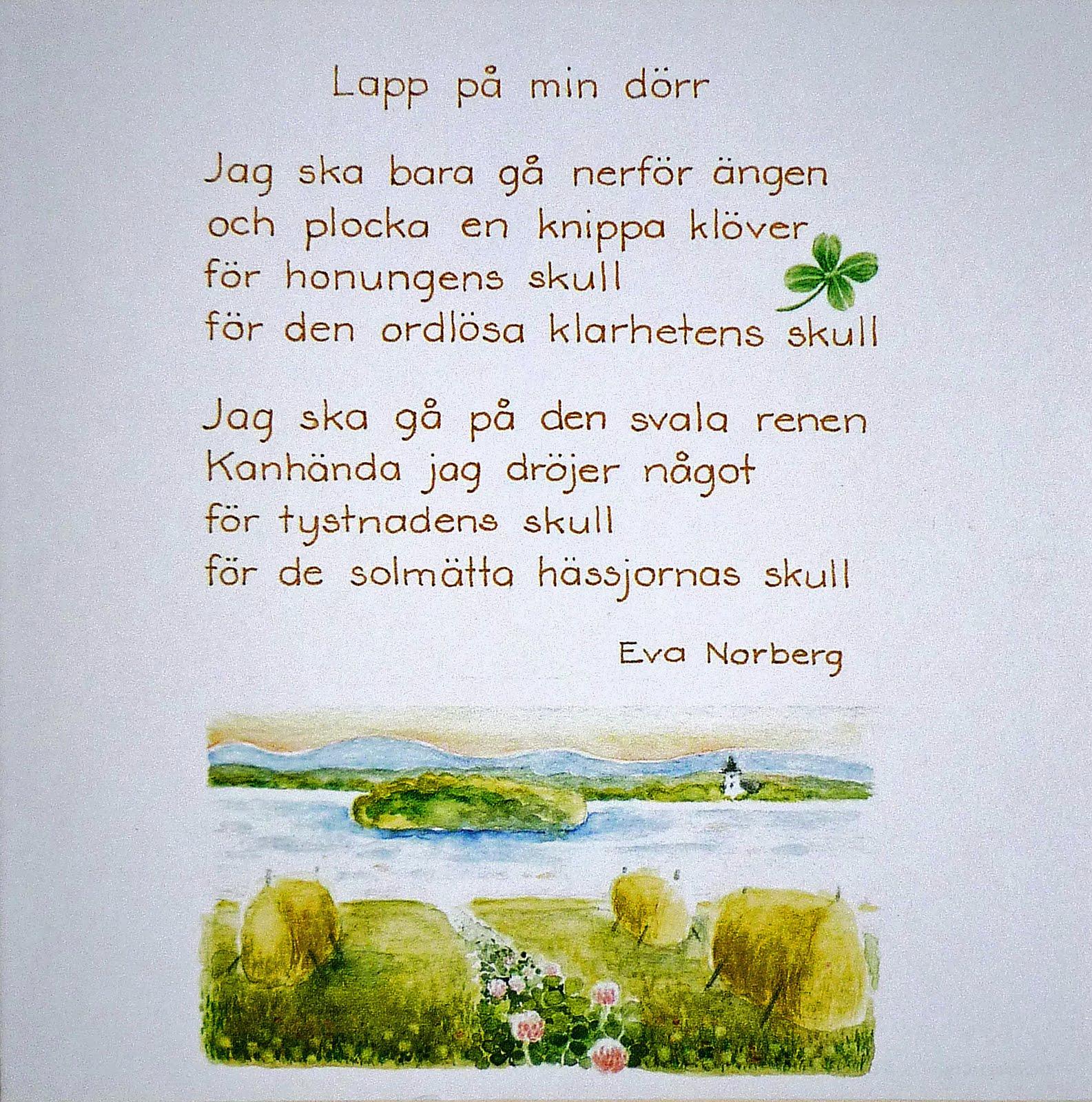 poesi födelsedag Harry Martinson i tiden: Eva Norberg och Harry Martinson poesi födelsedag