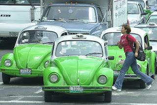 Paixão por Fusca: Cidade do México: Capital do Fusca Taxi