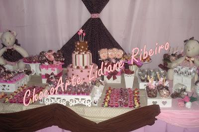 Mais uma Festa Rosa e Marrom!!
