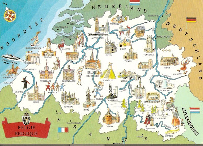 My unesco world heritage postcards belgium france belfries of map of belgium with locations of towns with their belfries the towns on the maps are roeselare ieper oudenaarde tienen tongeren tournai mons etc gumiabroncs Image collections