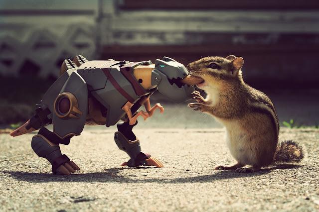 Grimlock vs Munkzilla by Fanboy30 from flickr (CC-NC-SA)