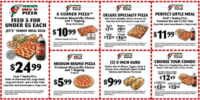 Discounts average $5 off with a Jet's Pizza promo code or coupon. 15 Jet's Pizza coupons now on RetailMeNot.