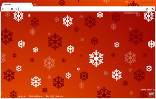 Holiday Snowflakes Google Chrome Theme