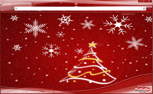 Red Christmas Google Chrome Theme