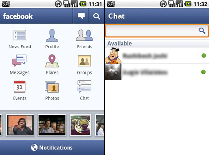 Facebook for Android Chat