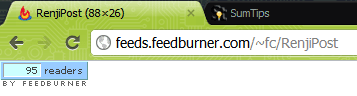 Feedburner FeedCount Chicklet