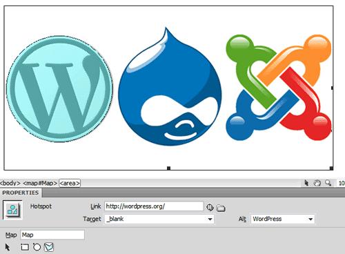 Image Map in Adobe Dreamweaver