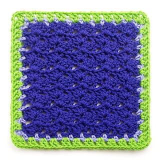 Variations on a Theme Mystery Crochet Along completed Block 5