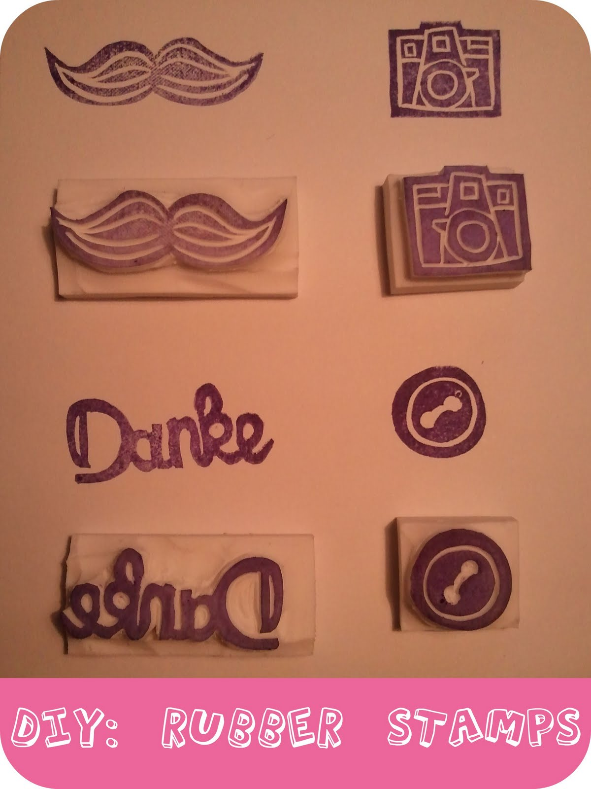 DIY: Rubber stamps. - Luloveshandmade