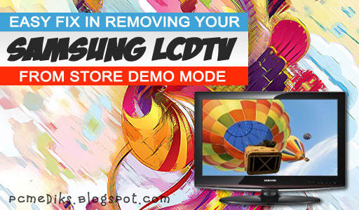 Remove store demo mode samsung led tv