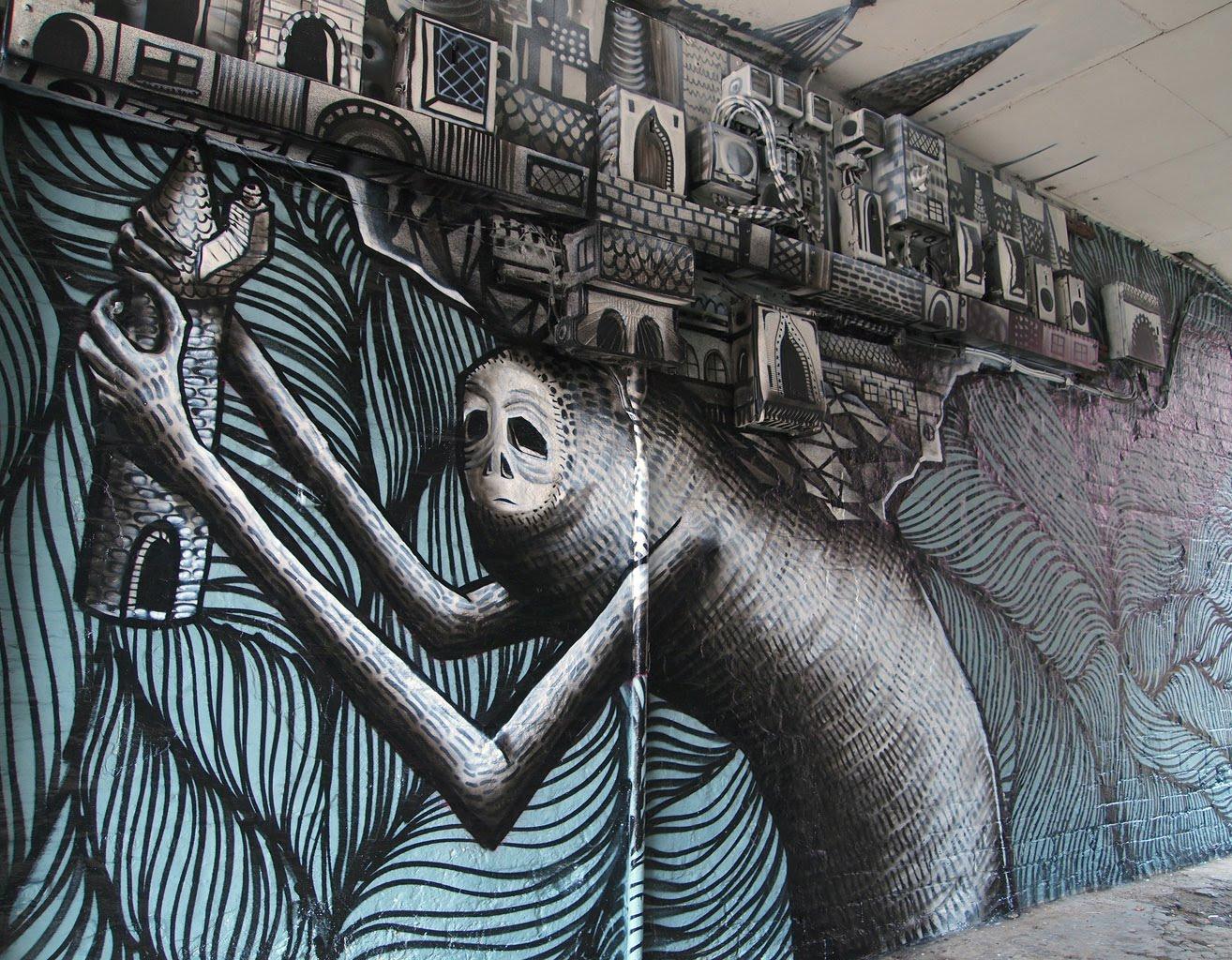 Kid Acne X Phlegm Sheffield Street Art Hookedblog Street Art From London And Beyond